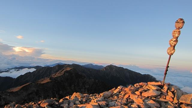 荒川三山と赤石岳