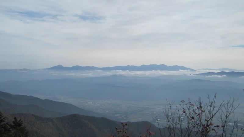 南木曽岳と経ヶ岳